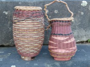 Wicker Basketry Starting with a Wood Base